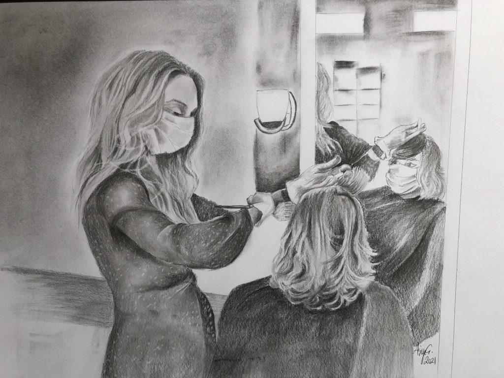 Die Frau macht das Leben, das sie berührt, schöner. By Asiye Çoktaşar